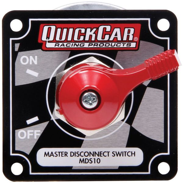 QuickCar Master Disconnect Switch with Flag Plate